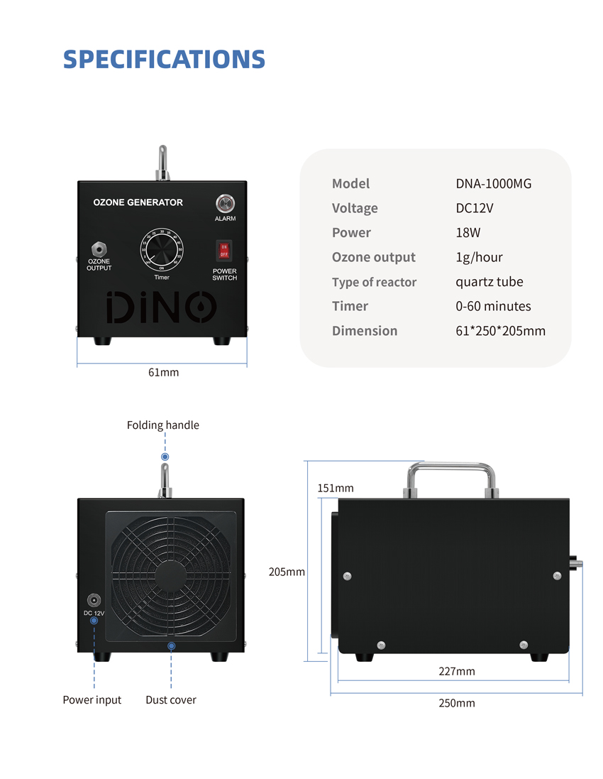 Dino Purification Ozone Generator For Car -07